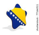 Bosnia and Herzegovina flag STAR BANNER - stock photo