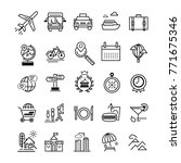 traveling and transport icons... | Shutterstock .eps vector #771675346