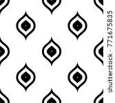seamless black and white ogee... | Shutterstock .eps vector #771675835