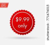 price discount sticker. sale... | Shutterstock .eps vector #771676015