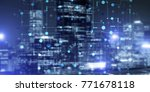 conceptual background image... | Shutterstock . vector #771678118