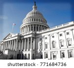 united states capitol building... | Shutterstock . vector #771684736