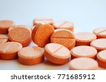 Orange Round Pills  Vitamins