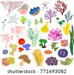 set of different species of...   Shutterstock .eps vector #771693082