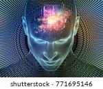 radiating mind series. 3d... | Shutterstock . vector #771695146