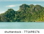 a scenery of a sea and a... | Shutterstock . vector #771698176