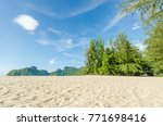 beautiful beach scenery with... | Shutterstock . vector #771698416