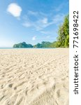 beautiful beach scenery with... | Shutterstock . vector #771698422