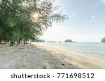 beautiful beach scenery with... | Shutterstock . vector #771698512