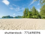 beautiful beach scenery with... | Shutterstock . vector #771698596