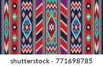 colorful mosaic oriental kilim... | Shutterstock .eps vector #771698785