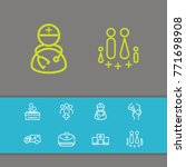 healthcare aid icons set with...
