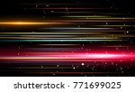 light and stripes moving fast... | Shutterstock . vector #771699025