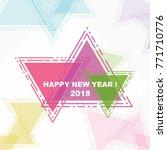 happy new year  beautiful...   Shutterstock .eps vector #771710776