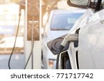 image of electrical car charger ... | Shutterstock . vector #771717742
