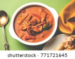 indian mushroom curry or semy... | Shutterstock . vector #771721645