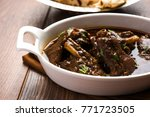 lamb or mutton shank  also... | Shutterstock . vector #771723505