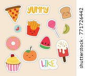 set of cute sticker | Shutterstock .eps vector #771726442