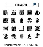 health and exercises glyph... | Shutterstock .eps vector #771732202