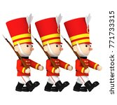 toy soldiers   3d illustration | Shutterstock . vector #771733315