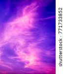 twilight sky background with...   Shutterstock . vector #771733852