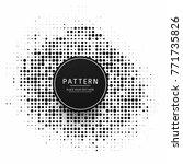 modern halftone background   Shutterstock .eps vector #771735826