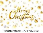 raster copy merry christmas... | Shutterstock . vector #771737812
