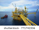 industrial offshore oil and gas ... | Shutterstock . vector #771742336