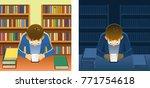 young person reading an e... | Shutterstock .eps vector #771754618