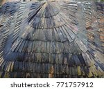 a top down view of the roof... | Shutterstock . vector #771757912