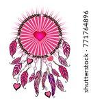 feminine pink sticker. ethnic...   Shutterstock .eps vector #771764896