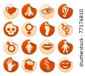human stickers   Shutterstock .eps vector #77176810
