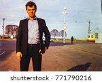 ussr  leningrad   circa 1980 ... | Shutterstock . vector #771790216