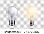 transparent realistic light... | Shutterstock .eps vector #771798832