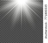 vector transparent sunlight... | Shutterstock .eps vector #771800335