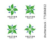 organic shape logo template...   Shutterstock .eps vector #771806812