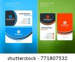 corporate business card print... | Shutterstock .eps vector #771807532
