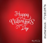 happy valentines day card ... | Shutterstock .eps vector #771813976