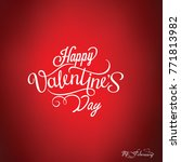happy valentines day card ... | Shutterstock .eps vector #771813982