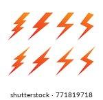 lightning thunderbolt... | Shutterstock .eps vector #771819718