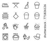 thin line icon set   iron ... | Shutterstock .eps vector #771826126