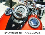 Chromed Speedometer Of Classic...