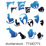 Stock vector collection of vector animals 77182771