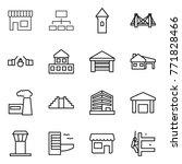 thin line icon set   shop ... | Shutterstock .eps vector #771828466