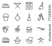 thin line icon set   iron ... | Shutterstock .eps vector #771830242