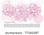 peonies floral background | Shutterstock .eps vector #77183287
