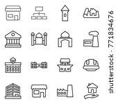 thin line icon set   shop ... | Shutterstock .eps vector #771834676