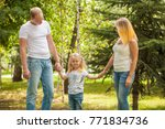 stylish young family in the... | Shutterstock . vector #771834736