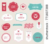 valentine s day set of label... | Shutterstock .eps vector #771837388