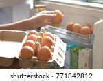 Hand Pick Chicken Egg From Egg...
